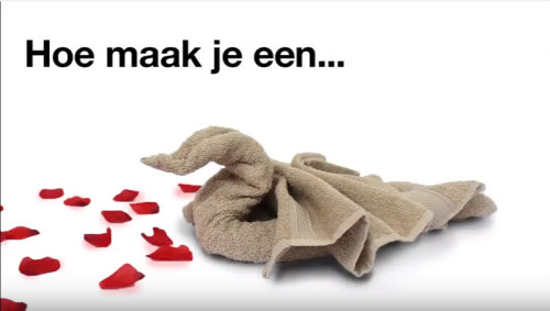 zwaan-vouwen-van-handdoeken